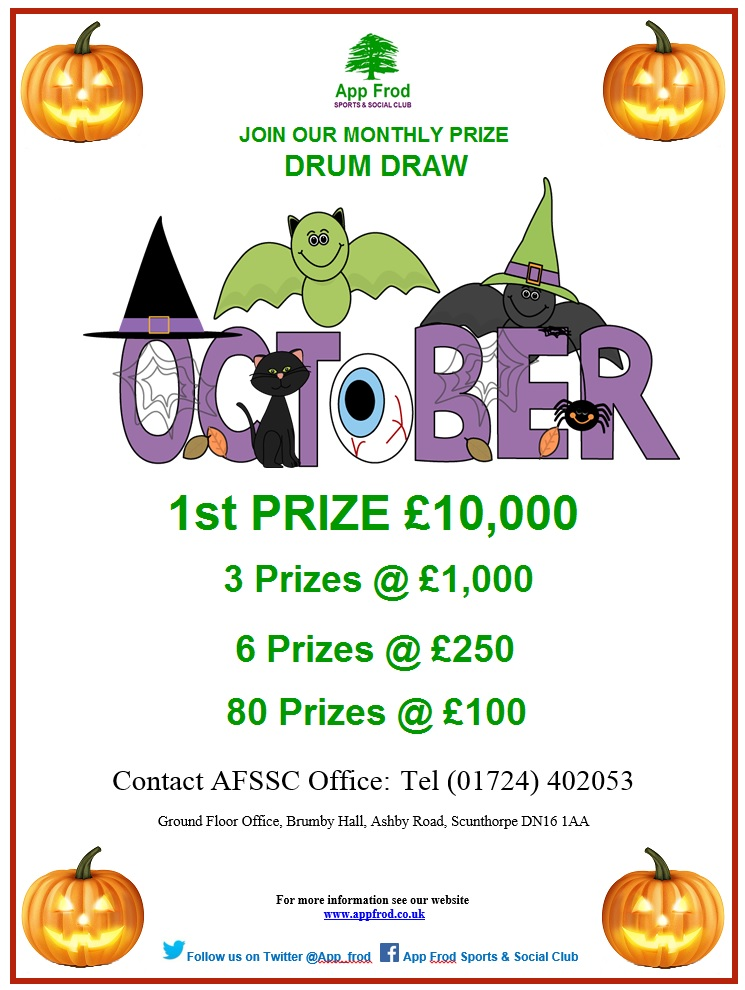 October Drum Draw, Drum Draw, App Frod Drum Draw